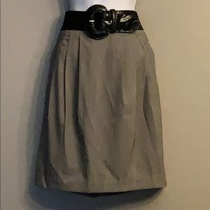 NWOT Worthington Gray Pleat Size 6 Skirt